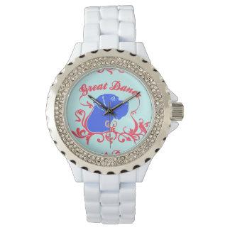 Logotipo de great dane reloj