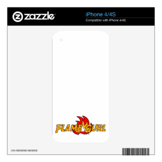 Logotipo de Gurl de la llama Skins Para iPhone 4S