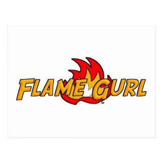Logotipo de Gurl de la llama Postal