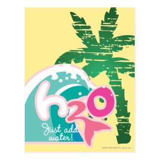 Logotipo de H2O Tarjeta Postal