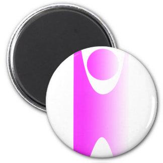 Logotipo de Happyman Imán Redondo 5 Cm