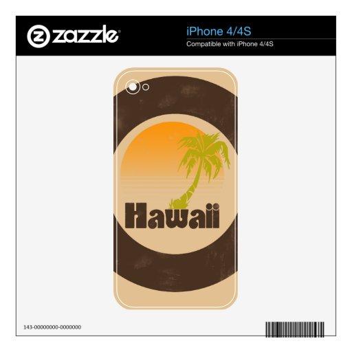 Logotipo de Hawaii del vintage iPhone 4 Calcomanías