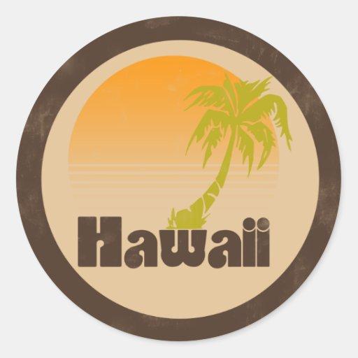 Logotipo de Hawaii del vintage Pegatina