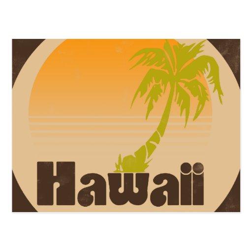 Logotipo de Hawaii del vintage Postales