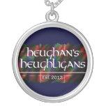Logotipo de Heughligans (azul de DK) Collar