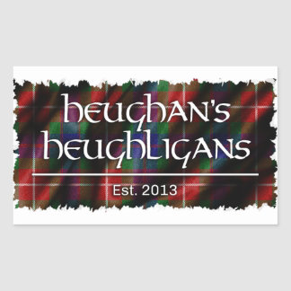 Logotipo de Heughligans Pegatina Rectangular
