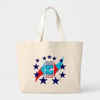 Logotipo de Hillary Clinton Bolsa Tela Grande