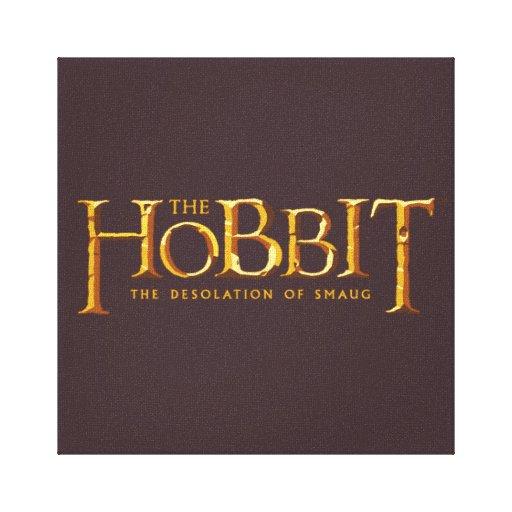 Logotipo de Hobbit - oro Impresión En Lienzo