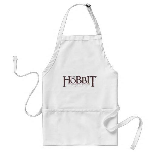 Logotipo de Hobbit - oscuridad Delantal
