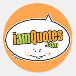 logotipo de iamQuotes.com Etiquetas Redondas