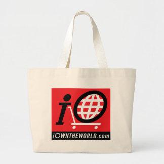 logotipo de iOwnTheWorld.com Bolsa Tela Grande