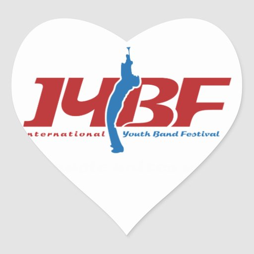 Logotipo de IYBF Pegatina En Forma De Corazón