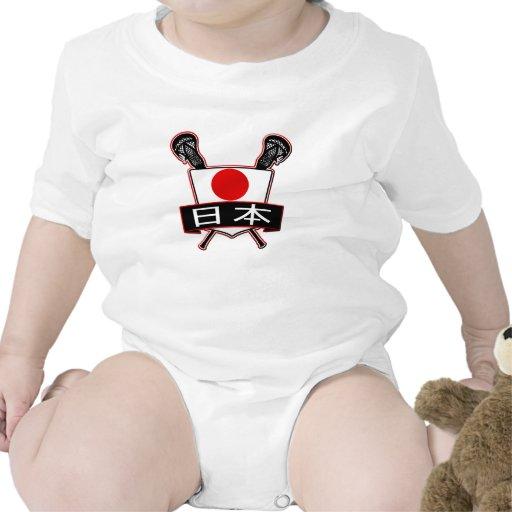 Logotipo de Japón LaCrosse Traje De Bebé