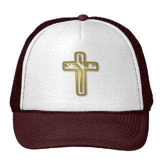 Logotipo de Jesús en oro Gorras De Camionero