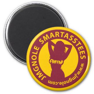 Logotipo de JMGNole SmartAssTees Imán Redondo 5 Cm