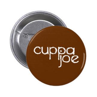 logotipo de Joe del cuppa en blanco - Pins