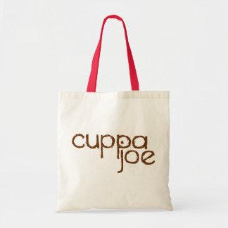 logotipo de Joe del cuppa en marrón - Bolsa