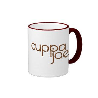 logotipo de Joe del cuppa en marrón - Tazas De Café