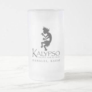 Logotipo de Kalypso Kane en negro Jarra De Cerveza Esmerilada