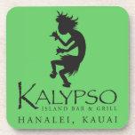 Logotipo de Kalypso Kane en negro Posavasos De Bebida