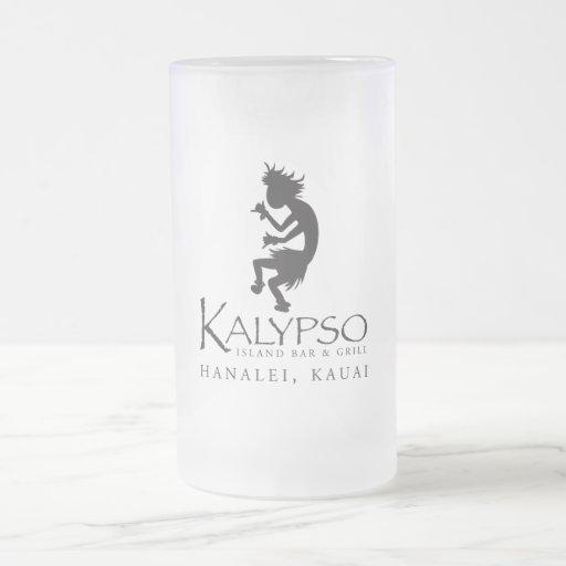 Logotipo de Kalypso Kane en negro Taza Cristal Mate