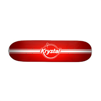 "Logotipo de Krystal con el monopatín de la tira Patineta 8 1/2"""