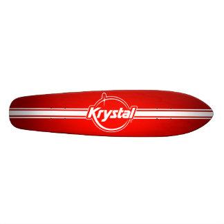 Logotipo de Krystal con el monopatín de la tira Patin Personalizado