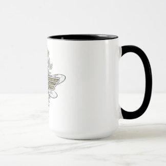 Logotipo de la abeja reina de la Mujer Maravilla Taza