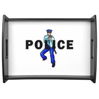 Logotipo de la acción policial bandeja