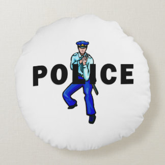 Logotipo de la acción policial cojín redondo