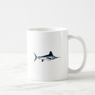 Logotipo de la aguja blanca taza de café