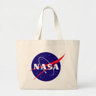 Logotipo de la albóndiga de la NASA Bolsa Tela Grande