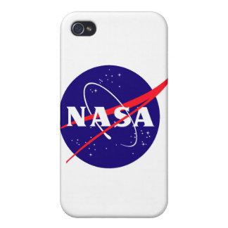 Logotipo de la albóndiga de la NASA iPhone 4 Cárcasas