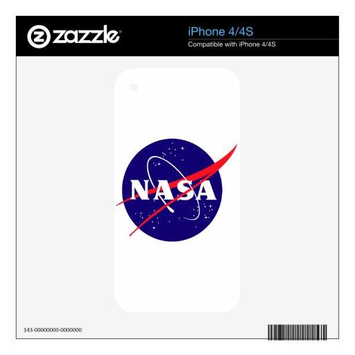Logotipo de la albóndiga de la NASA iPhone 4S Skin