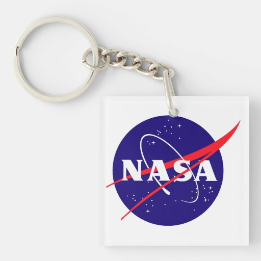 Logotipo de la albóndiga de la NASA Llavero Cuadrado Acrílico A Doble Cara