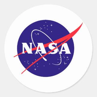 Logotipo de la albóndiga de la NASA Pegatina Redonda