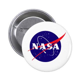 Logotipo de la albóndiga de la NASA Pin Redondo De 2 Pulgadas
