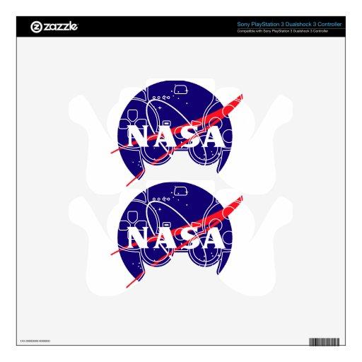 Logotipo de la albóndiga de la NASA Mando PS3 Calcomanías