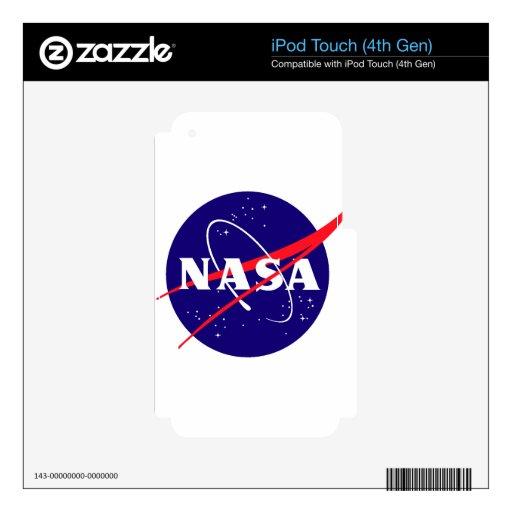 Logotipo de la albóndiga de la NASA iPod Touch 4G Calcomanía