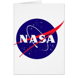 Logotipo de la albóndiga de la NASA Tarjeta De Felicitación