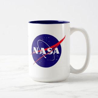Logotipo de la albóndiga de la NASA Taza De Café De Dos Colores