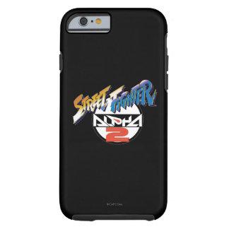 Logotipo de la alfa 2 de Street Fighter Funda Para iPhone 6 Tough