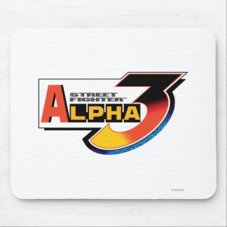 Logotipo de la alfa 3 de Street Fighter Alfombrilla De Raton