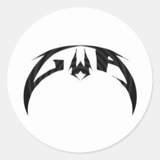 Logotipo de la alfa de GWA Etiquetas Redondas