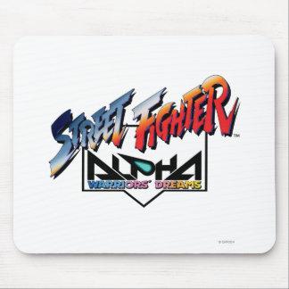 Logotipo de la alfa de Street Fighter Tapete De Ratones