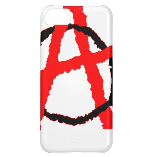 Logotipo de la anarquía funda para iPhone 5C