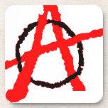 Logotipo de la anarquía posavasos de bebida