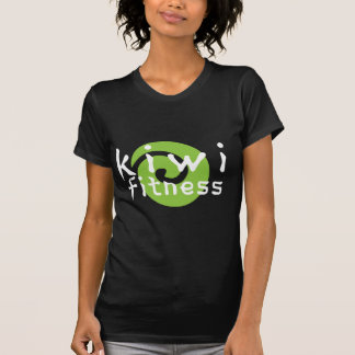 Logotipo de la aptitud del kiwi - ropa oscura camiseta