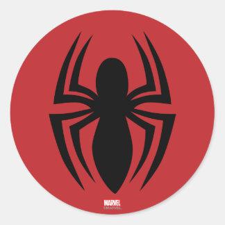 Logotipo de la araña de Spider-Man Pegatina Redonda