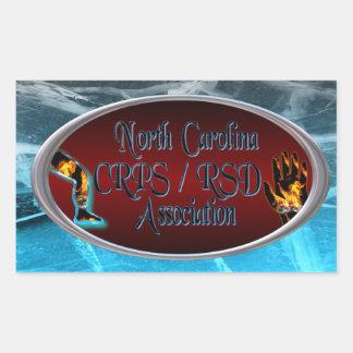 Logotipo de la asociación de Carolina del Norte Pegatina Rectangular
